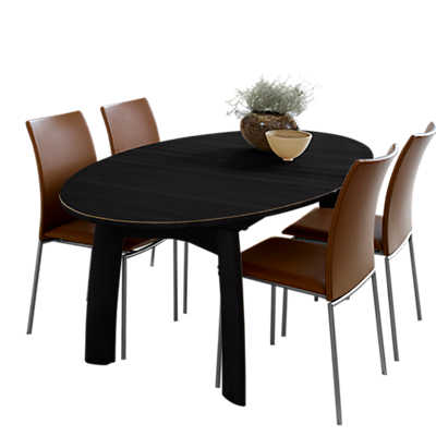 Picture of Ellipse Extending Dining Table SM 71 by Skovby