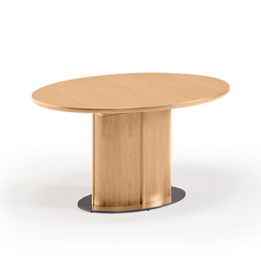 SKSM72-QS-WALNUT LACQUER: Customized Item of Oval Extending Dining Table SM 72 by Skovby (SKSM72)