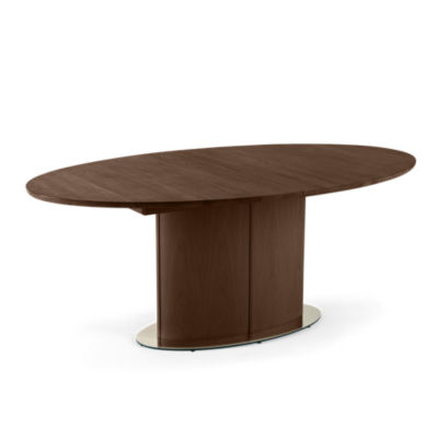 SKSM73-BLACK WENGE: Customized Item of Oval Extending Dining Table SM 73 by Skovby (SKSM73)