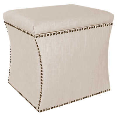 Picture of Nail Button Storage Ottoman by Skyline