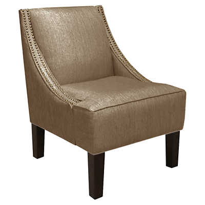 Picture of Nail Button Swoop Arm Chair by Skyline