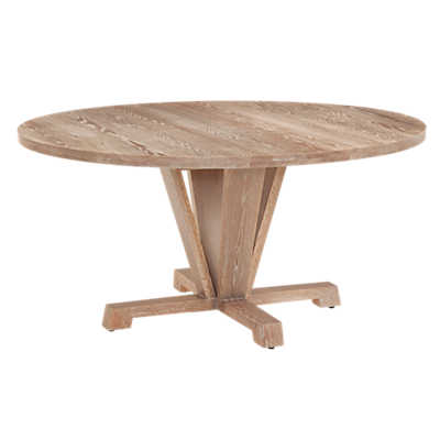 Picture of Boylston Round Extension Oak Dining Table by Saloom