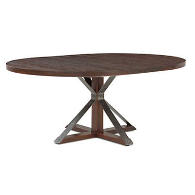 Picture of Cambridge Round Extension Oak Dining Table by Saloom