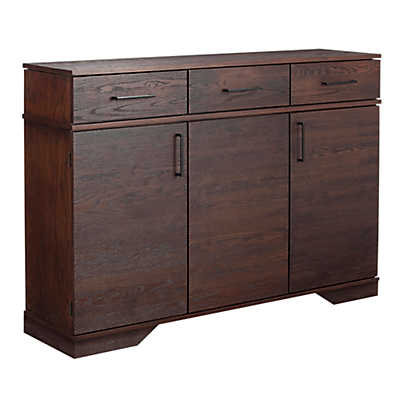 Picture of 3 Drawer with Doors Oak Credenza by Saloom