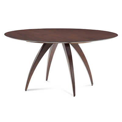 Picture of Ella Round Maple Dining Table with Strata Top Treatment  by Saloom