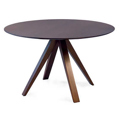 Picture of Nova Round Maple Dining Table with Strata Top Treatment  by Saloom