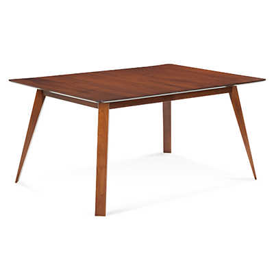Picture of Spectra Rectangular Maple Dining Table with Strata Top Treatment  by Saloom