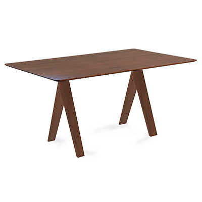 Picture of Soma Rectangular Maple Dining Table with Strata Top Treatment  by Saloom