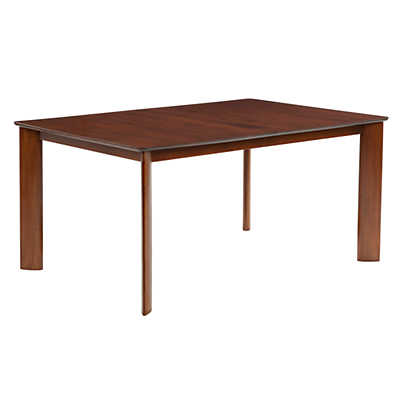 Picture of Ari Rectangular Maple Dining Table with Strata Top Treatment by Saloom