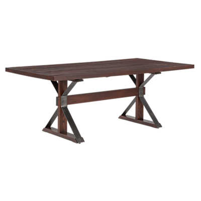 Picture of Tremont Rectangular Extension Oak Dining Table by Saloom