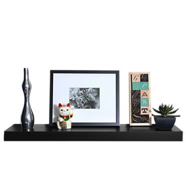 SOSIMPLE10x36-BLACK: Customized Item of So Simple Wall Shelf by Smart Furniture (SOSIMPLE)