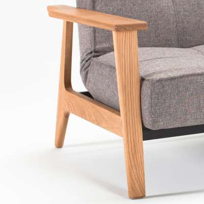 Frej Laquered Oak for Dublexo Deluxe Lounge Chair by Innovation-USA (IN94741051C)