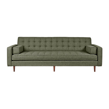 SPENCERSOFA-VINTAGE ARMY-WALNUT: Customized Item of Spencer Sofa by Gus Modern (SPENCERSOFA)