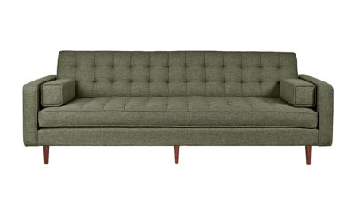 SPENCERSOFA-PARLIAMENT STONE-WALNUT: Customized Item of Spencer Sofa by Gus Modern (SPENCERSOFA)