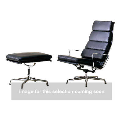 show details for eames soft pad lounge chair and ottoman by herman