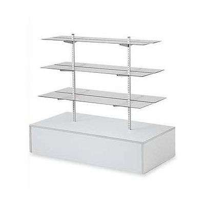 "Picture for 54"" High-Base Gondola Unit with Glass Shelves by Smart Fixtures"