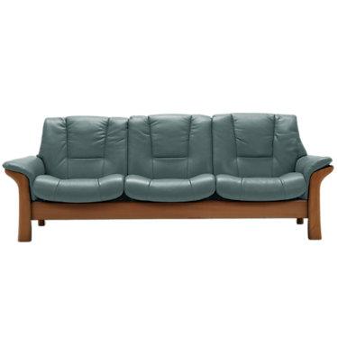 STBUCK3SLB-QS-WENGE-BATICK BURGUNDY: Customized Item of Stressless Buckingham Sofa, Lowback by Ekornes (STBUCK3SLB)