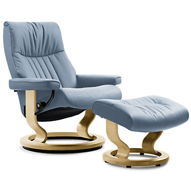 STCROWNLGCH-SP-CORI BLACK-BLACK: Customized Item of Stressless Crown Chair Large by Ekornes (STCROWNLGCH)