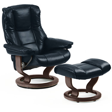 STKENSINGTON-QS-NATURAL-PALOMA BLACK: Customized Item of Stressless Mayfair Chair Large with Classic Base by Ekornes (STKENSINGTON)