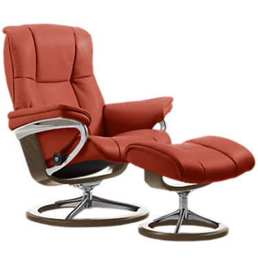 STKENSINGTONSIG-SP-TEAK-CORI FOG: Customized Item of Stressless Mayfair Chair Large with Signature Base by Ekornes (STKENSINGTONSIG)