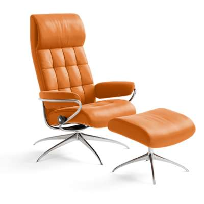 Picture for Stressless London High-Back Chair and Ottoman by Ekornes