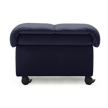 STLRGOTT-PALOMA BLACK: Customized Item of Stressless Large Soft Ottoman by Ekornes (STLRGOTT)