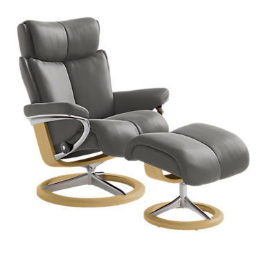 STMAGICLCOSIG-SP-WENGE-PALOMA ROCK: Customized Item of Stressless Magic Chair Large with Signature Base by Ekornes (STMAGICLCOSIG)