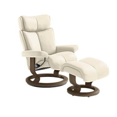 STMAGICMCO-QS-BLACK-PALOMA CHOCOLATE: Customized Item of Stressless Magic Chair Medium with Classic Base by Ekornes (STMAGICMCO)