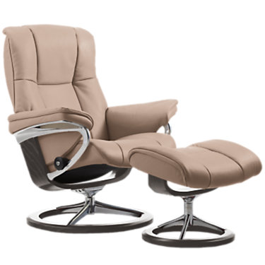 STMAYFAIRSIG-SP-3-BATICK CREAM: Customized Item of Stressless Mayfair Chair Medium with Signature Base by Ekornes (STMAYFAIRSIG)