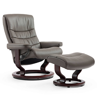 STNORDICMDCH-PALOMA CLEMENTINE-BLACK: Customized Item of Stressless Nordic Chair Medium by Ekornes (STNORDICMDCH)
