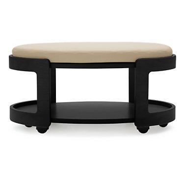 STOVLOTTOMN-BLACK-BATICK GREY: Customized Item of Stressless Oval Ottoman by Ekornes (STOVLOTTOMN)