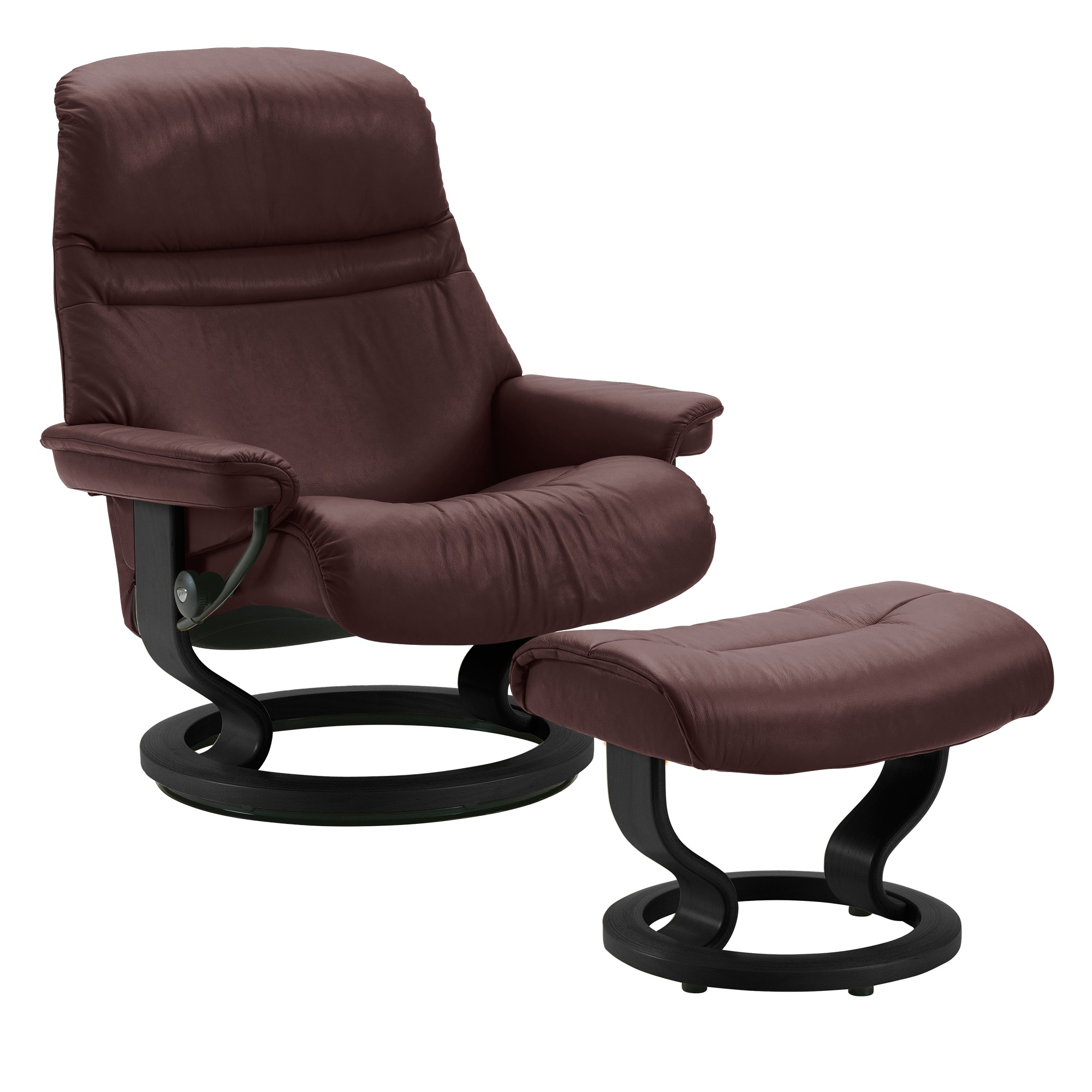 Stressless consul small chair and stool in batick leather - Picture Of Stressless Sunrise Chair Large By Ekornes