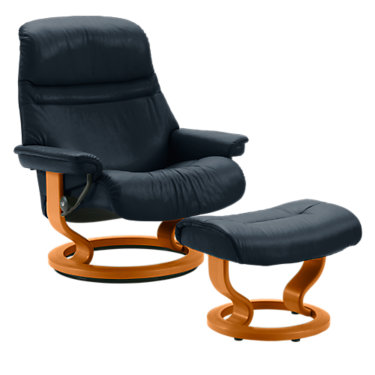 STSUNRISESCO-QS-WENGE-PALOMA LIGHT GREY: Customized Item of Stressless Sunrise Chair Small by Ekornes (STSUNRISESCO)