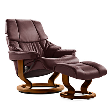 STVEGASCO-SP-WALNUT-PALOMA KHAKI: Customized Item of Stressless Reno Chair Large with Classic Base by Ekornes (STVEGASCO)