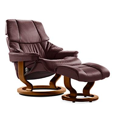 STVEGASCO-SP-WENGE-PALOMA OXFORD BLUE: Customized Item of Stressless Reno Chair Large with Classic Base by Ekornes (STVEGASCO)