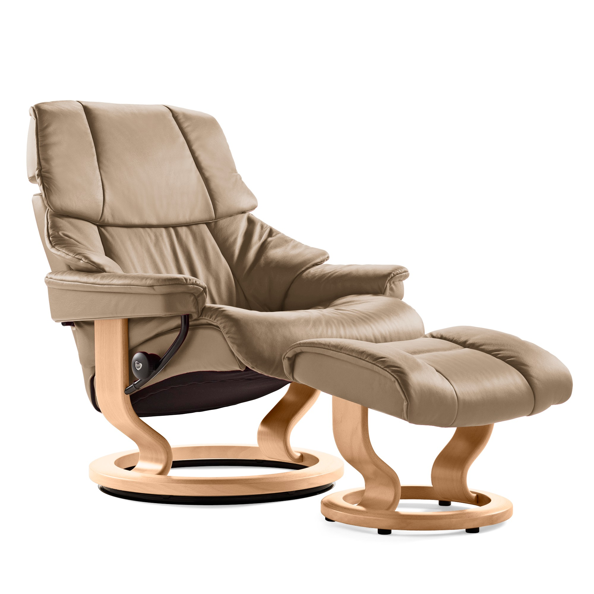 Stressless consul small chair and stool in batick leather - Picture Of Stressless Reno Chair Large With Classic Base By Ekornes