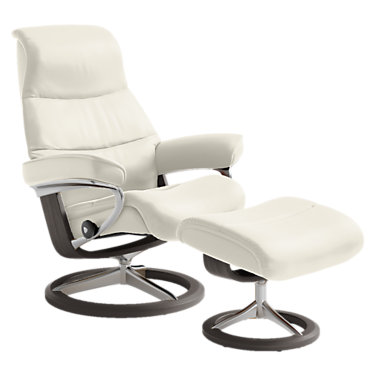 STVIEWCH-QS-PALOMA LIGHT GREY-WALNUT: Customized Item of Stressless View Chair Medium with Signature Base by Ekornes (STVIEWCH)