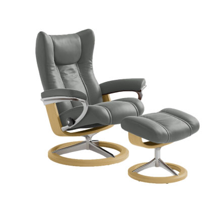 Picture of Stressless Wing Chair Medium with Signature Base by Ekornes