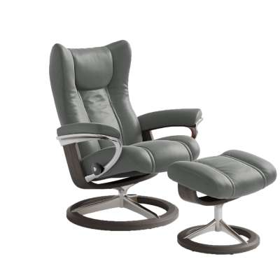Picture for Stressless Wing Chair Medium with Signature Base by Ekornes