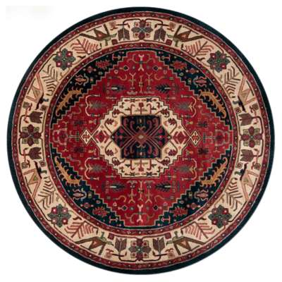 Picture for Ancient Treasures Burgundy Round Rug