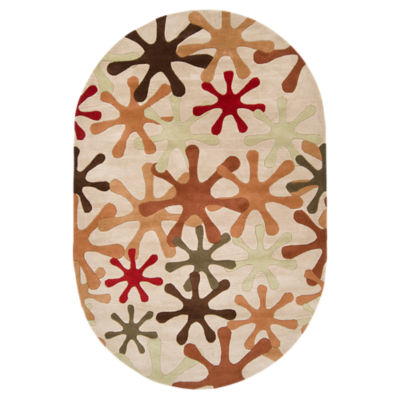 Picture of Athena Tan Oval Rug
