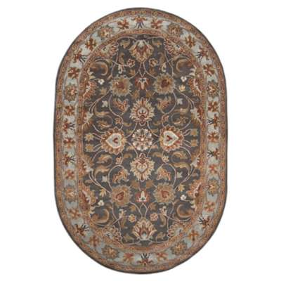 Picture for Caesar Charcoal and Rust Oval Rug