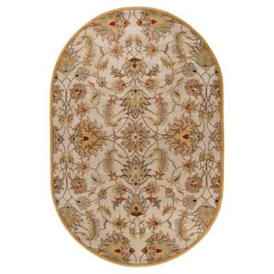 Picture for Caesar Beige and Taupe Oval Rug