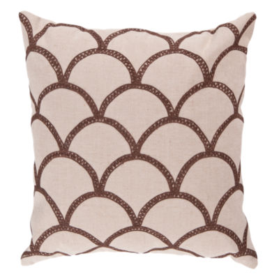 Picture of Scalloped Pillow, Chocolate