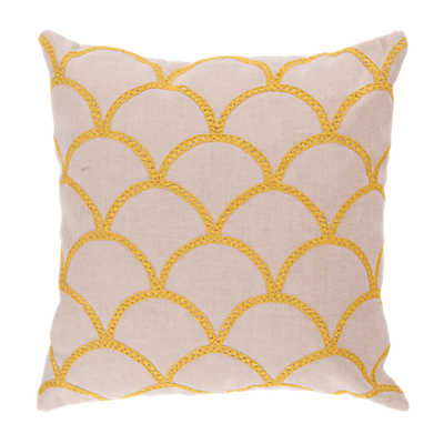 Picture of Scalloped Pillow, Yellow