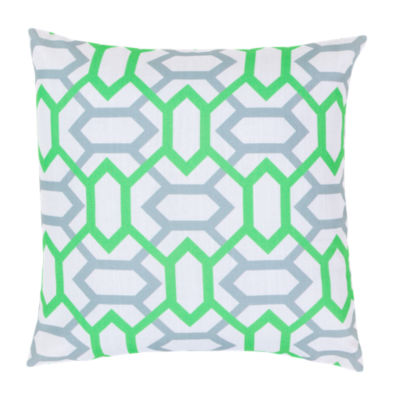 Picture of Geometry Pillow, Lime and Slate