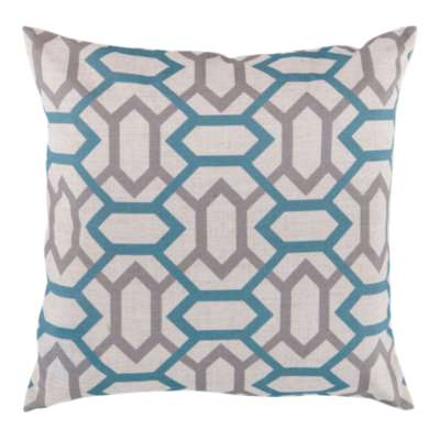 Picture for Geometry Pillow, Slate and Teal