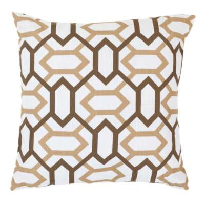 Picture for Geometry Pillow, Tan and Chocolate