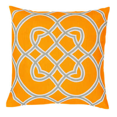 Picture of Kaleidoscope Pillow, Bright Orange