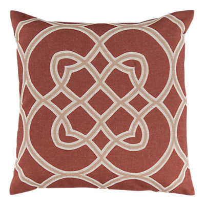 Picture of Kaleidoscope Pillow, Rust
